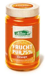 Allos Frucht Pur 75% Orange 250g Bio