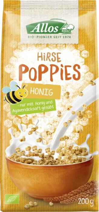 Allos Hirse Honig Poppies 200g Bio