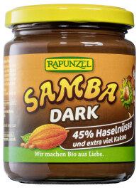 Rapunzel Samba Dark Zartbitter Nuss-Nougat Creme Bio 250g