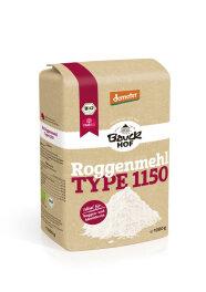 Bauckhof Lichtkorn Roggenmehl 1150 demeter 1kg Bio