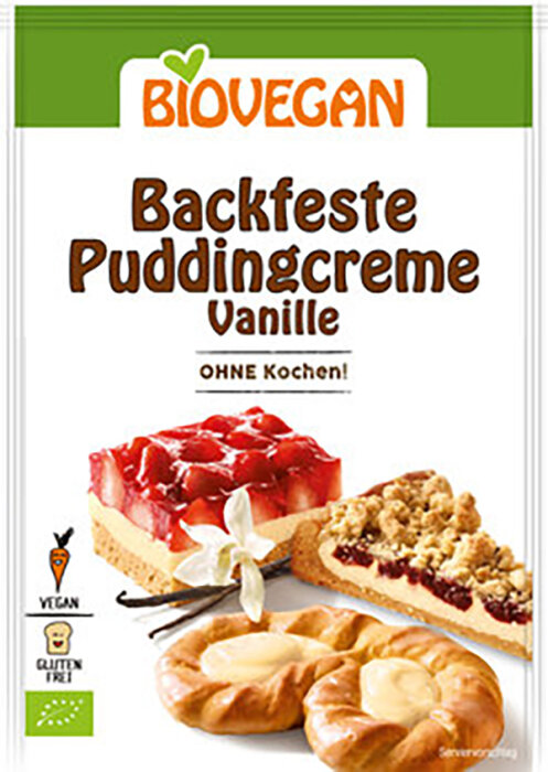 Biovegan Backfeste Puddingcreme Vanille, BIO 50g