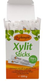 Birkengold Birkenzucker Sticks 50 Stück 200g