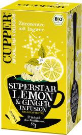 Cupper Zitronentee mit Ingwer 50g Bio