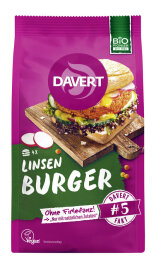 Davert Bio Linsen Curry Burger 160g