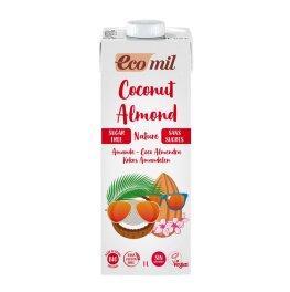 EcoMil Bio Kokos-Mandeldrink Zuckerfrei 1l