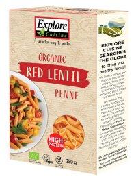 Explore Cuisine Penne aus roten Linsen 250g Bio