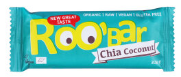 Roobar Chia Coconut Rohkost-Riegel mit Superfoods 30g