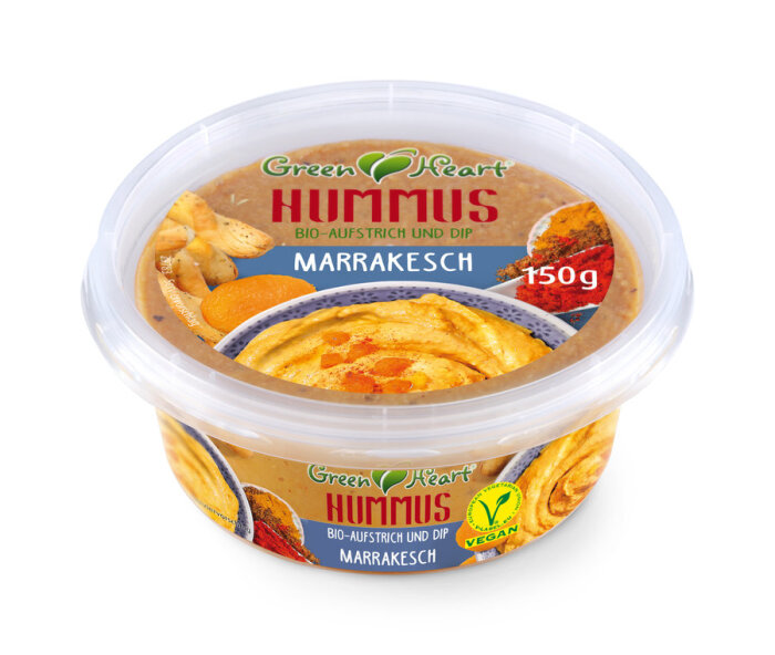 Green Heart Bio Hummus Marrakesch 150g