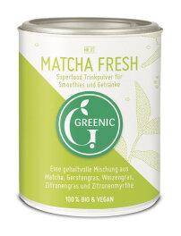 Greenic Matcha Fresh Superfood Trinkpulver Mischung 80g Bio