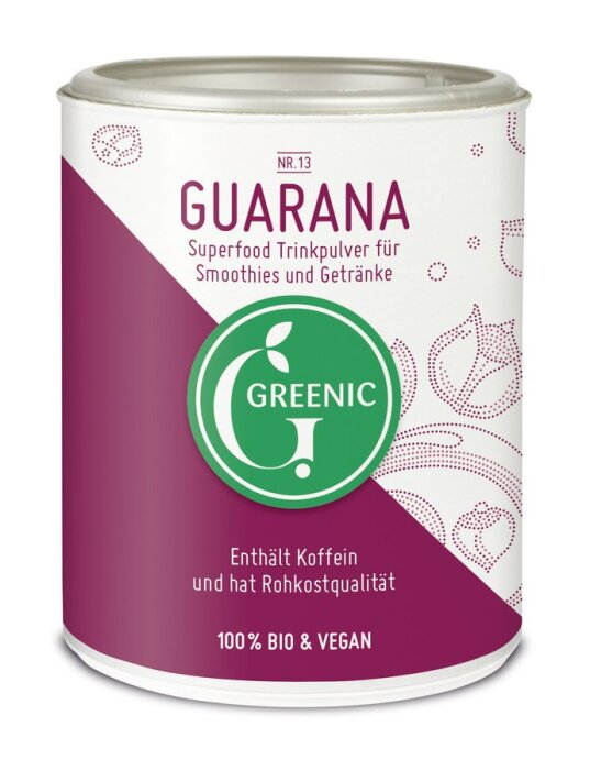 Greenic Guarana Superfood Trinkpulver 130g Bio