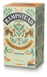 Hampstead Tea Organic Zesty Ginger Green Tea 40g Bio
