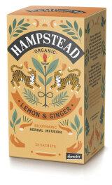 Hampstead Tea Organic Demeter Lemon Ginger 30g Bio