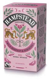 Hampstead Tea Organic Fairtrade Rosehip & Hibiscus...