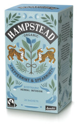 Hampstead Tea Organic Demeter and Fairtrade Peppermint...