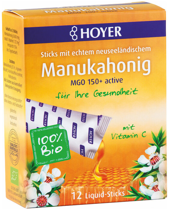 Hoyer Manukahonig Liquid-Sticks