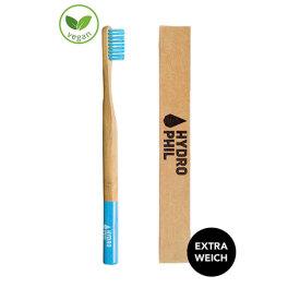 Hydrophil Bambuszahnbürste weich blau