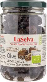 LaSelva Schwarze getrocknete Oliven, entsteint 120g Bio