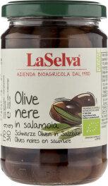 LaSelva Oliven schwarz in Salzlake 310g
