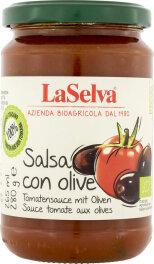 LaSelva Tomatensauce mit Oliven 280g Bio