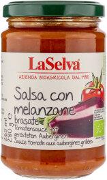 LaSelva Tomatensauce mit gerösteten Auberginen 280g Bio