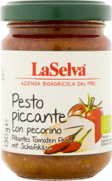 LaSelva Pikantes Tomaten Pesto mit Schafskäse 130g Bio