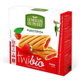 Le Moulin du Pivert Twibio mit Erdbeerfüllung 150g