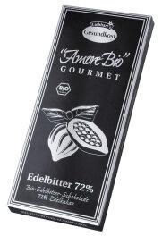 Liebhardt`s Gesundkost Bio Edelbitter-Schokolade 72%...