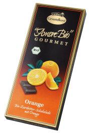 Liebharts Gesundkost Bio-Orangen-Zartbitter-Schokolade 100g