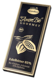 Liebharts Gesundkost Bio-Edelbitter-Schokolade, 85%...