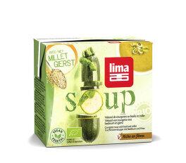 Lima Zucchinicrèmesuppe mit Basilikum und Hirse...