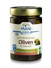 Mani Bläuel Grüne & Kalamata Oliven in...