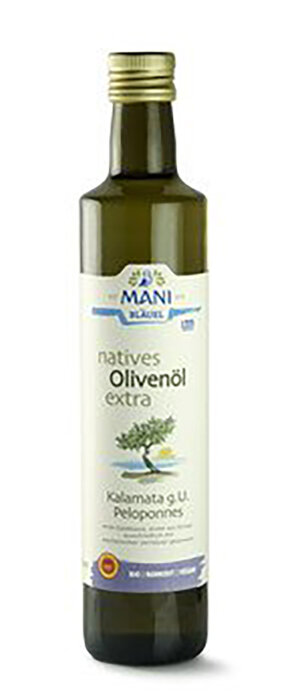 Mani Bläuel natives Olivenöl extra, Kalamata g.U. Bio 500ml