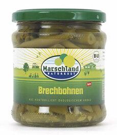 Marschland Naturkost Feine Brechbohnen im Glas 330g