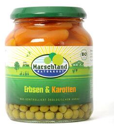 Marschland Naturkost Erbsen und Karotten im Glas 330 g