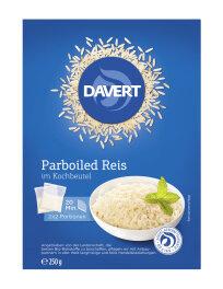 Davert ParboiledReis im Kochbeutel 250g