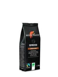 Mount Hagen Espresso ganze Bohne Softpack 250g