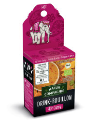 Natur Compagnie Drink Bouillon Hot Curry 50g Bio