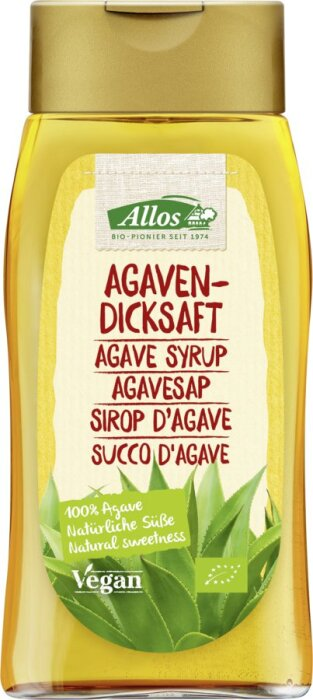Allos Bio Agavendicksaft in der Spenderflasche 250ml