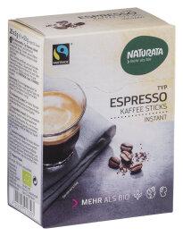 Naturata Espresso Sticks, Bohnenkaffee Instant Bio 25x 2g