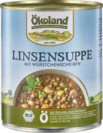 Ökoland Linsensuppe mit Würstchenscheiben 800g