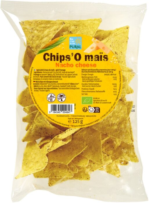 Pural Chips Nacho Cheese 125g Bio