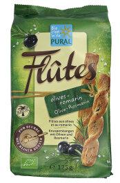 Pural Flûtes Oliven & Rosmarin 125g Bio