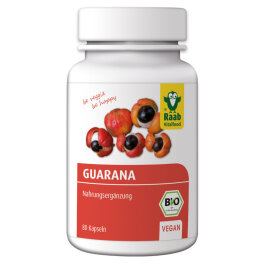 Raab Vitalfood BIO Guarana Premium-Kapseln, 80 St....