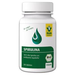 Raab Vitalfood Spirulina (Mikroalgen) 200 Tabletten 80g Bio