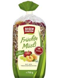 Rosengarten Früchte Müsli 750g