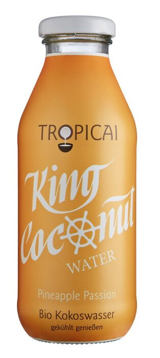 Tropicai King Coconut Water Pineapple Passion 350ml Bio