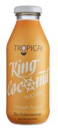 Tropicai King Coconut Water Pineapple Passion 350ml Bio