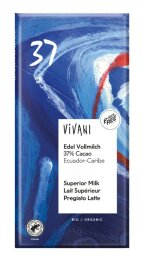 Vivani Edel Vollmilch mit37%Cacao 100g