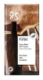 Vivani Feine Bitter mit 85%Cacao 100g