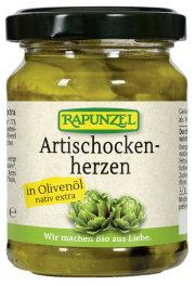 Rapunzel Bio Artischockenherzen in Olivenöl 120g